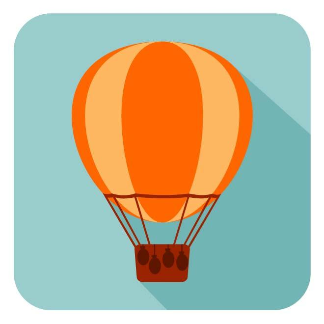 660x660 Hot Air Balloon Vector Icon