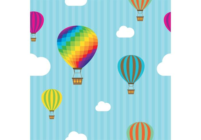 700x490 Hot Air Balloon Vector Free