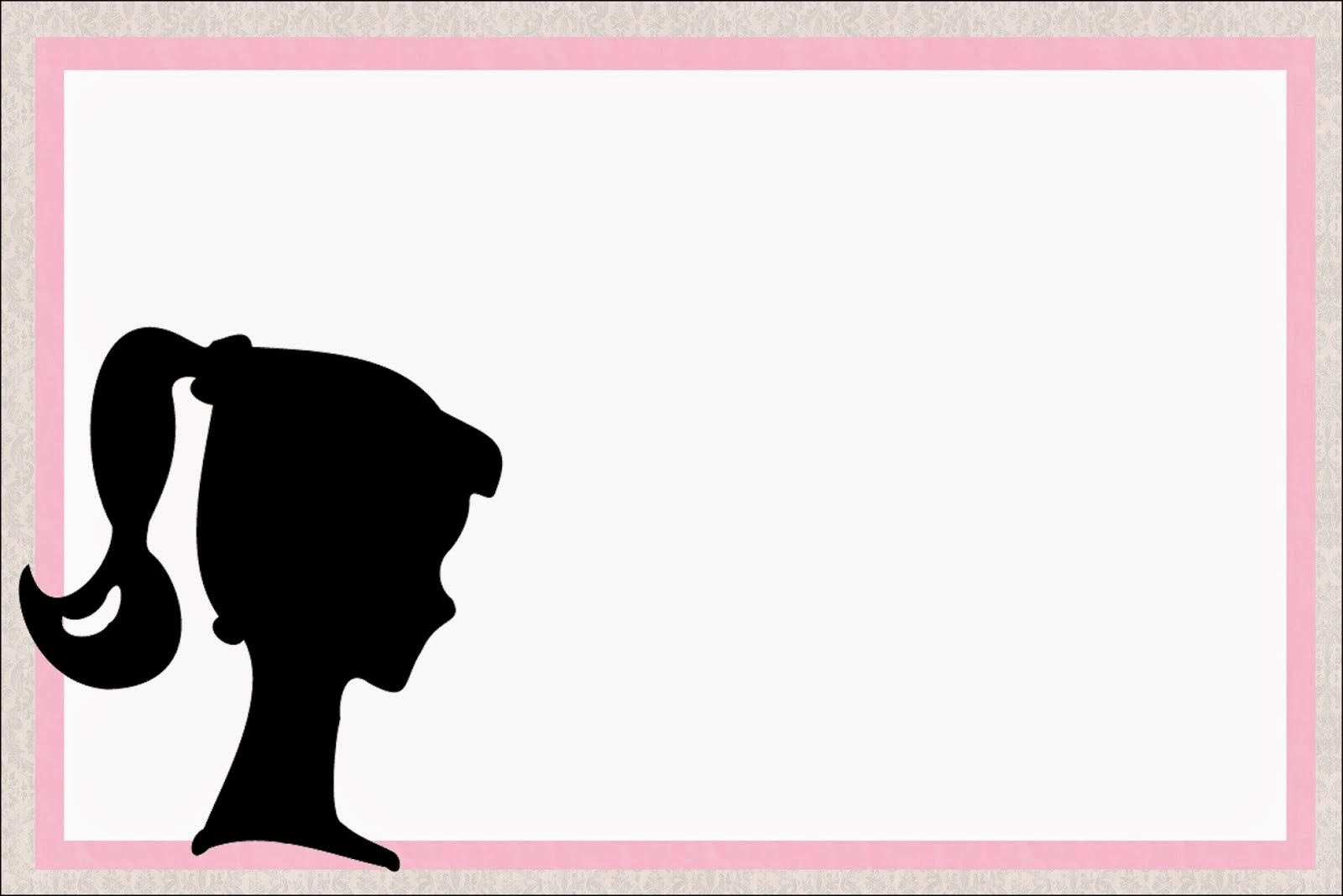 1600x1068 Barbie Silhouette Free Printablevitations. Oh My Fiesta!