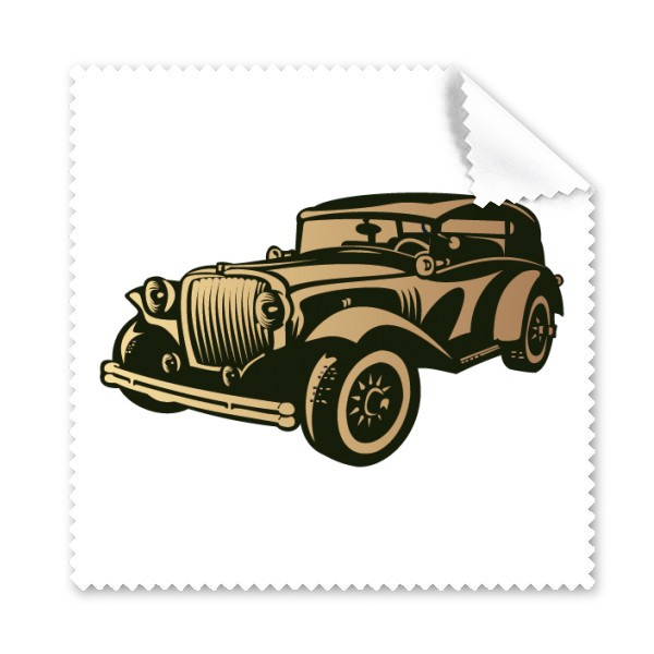 600x600 Black Classic Cars Silhouette Pattern Glasses Cloth Cleaning Cloth