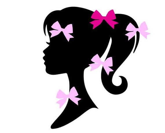 570x458 Fashion Girl Doll Inspired Silhouette Birthday Party Game Pin