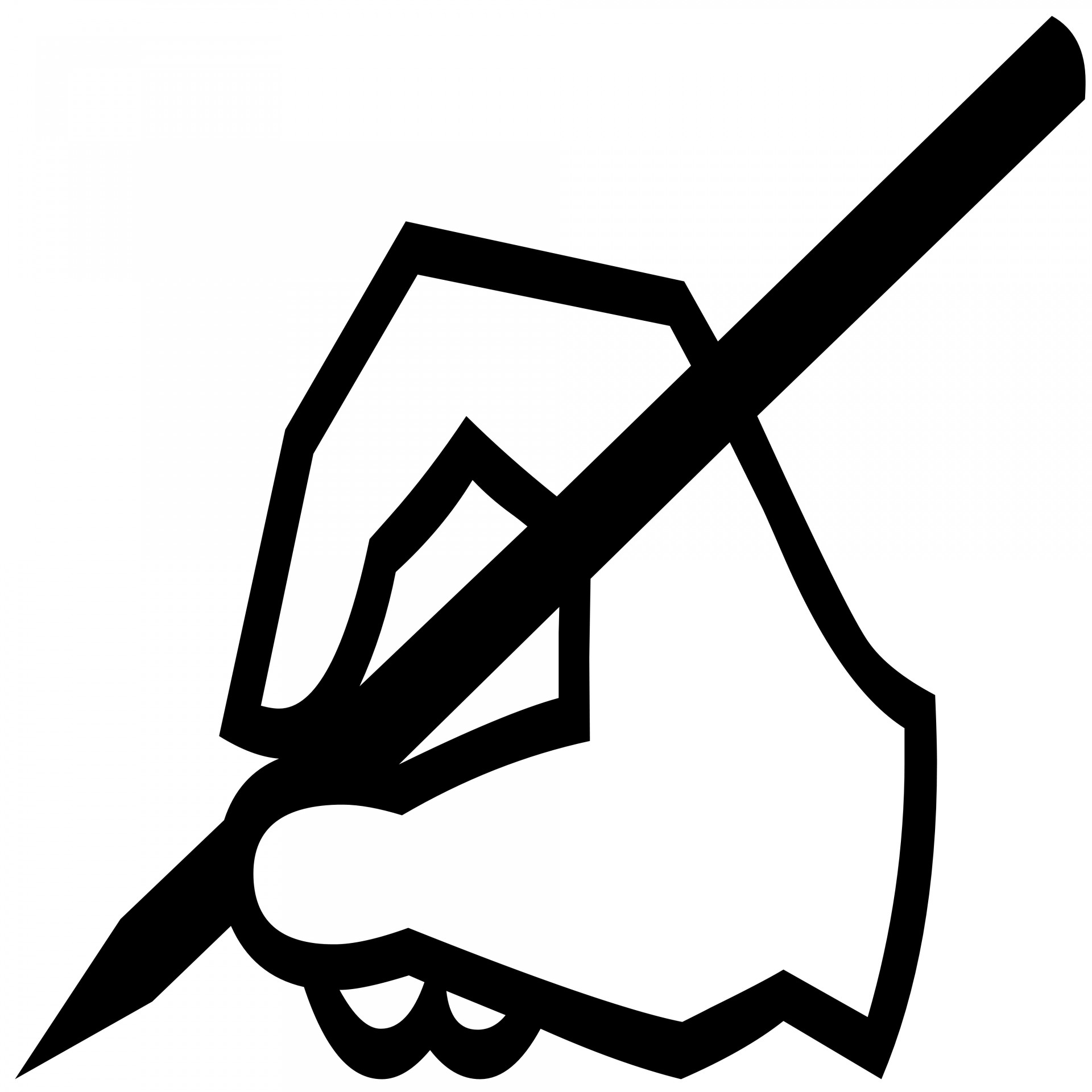 1920x1920 Writing Hand Silhouette