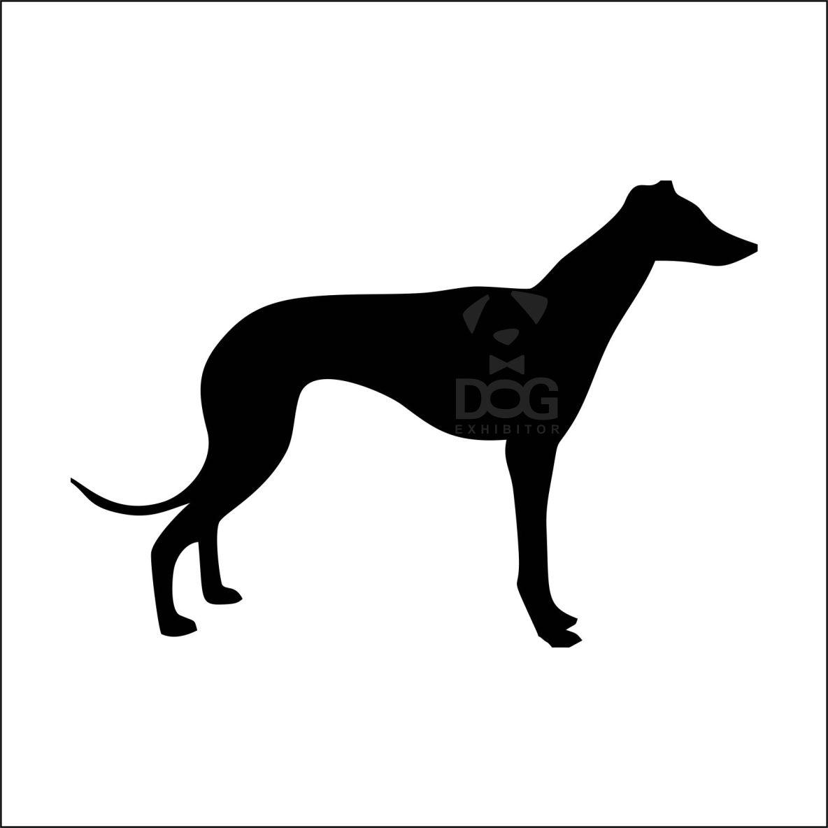 1184x1184 Greyhound Silhouette Sticker