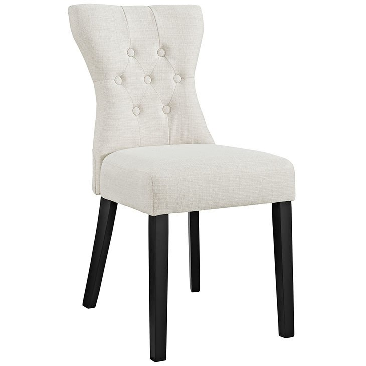 730x730 Silhouette Dining Side Chair Hourglass Shaped Accent Chair In Beige