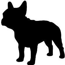 224x224 Free Pug Dog Clip Art Image Pug Dog Silhouette With The Word