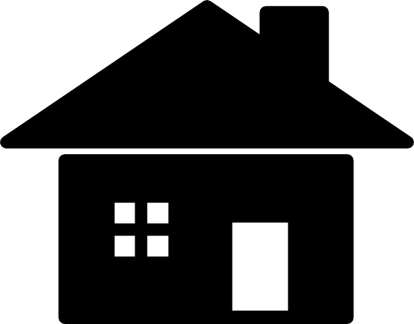 600x469 House Silhouette Icon Clip Art