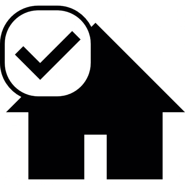 626x626 House Silhouette With Check Mark Icons Free Download