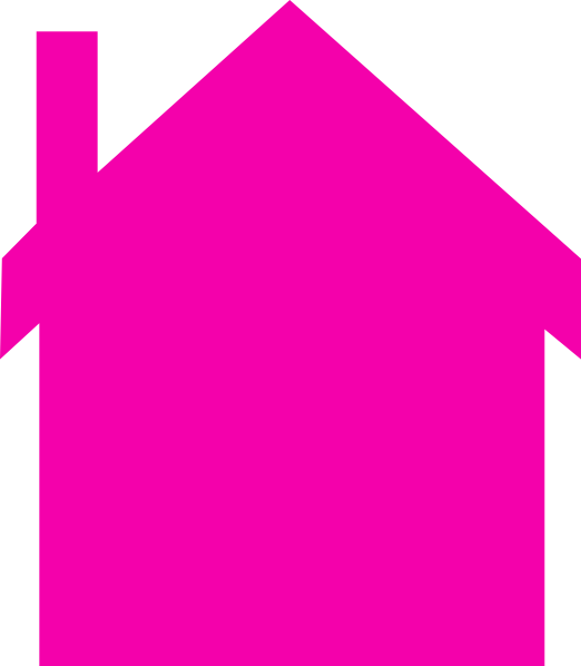 522x598 Pink House Silhouette Clip Art