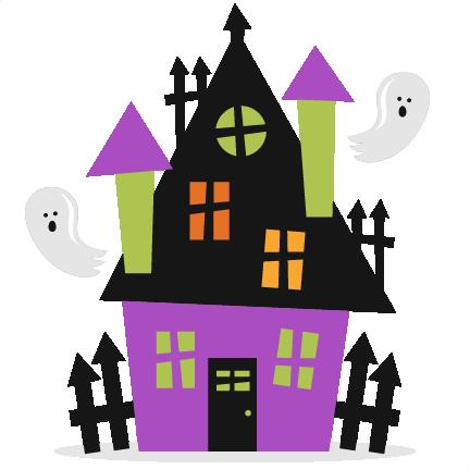 432x432 Halloween Haunted House Svg Scrapbook Cut File Cute Clipart Files