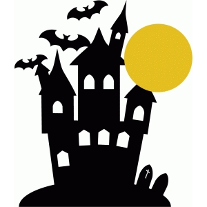 300x300 List Of Synonyms And Antonyms Of The Word Haunted House Silhouette