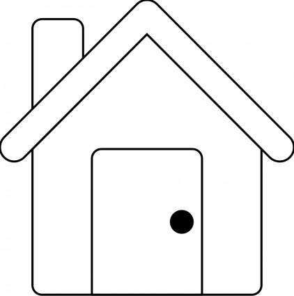 422x425 Modern House Outline Clipart Clipart Panda