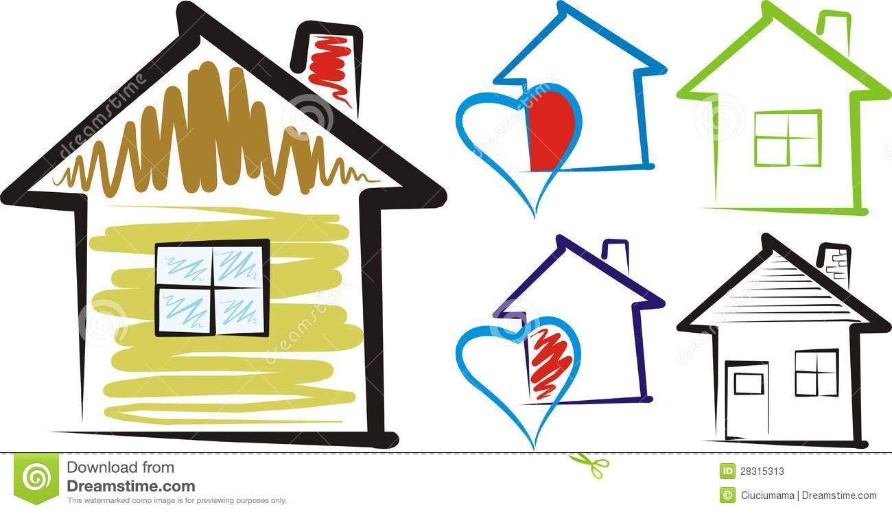 1300x749 Home Sweet Home House Silhouette Clipart
