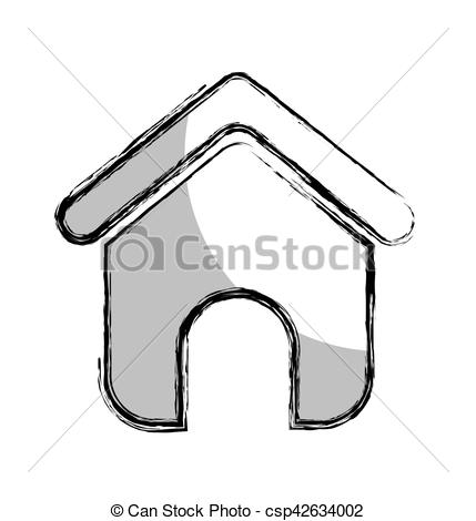 429x470 House Silhouette Isolated Icon Vector Illustration Design Vector