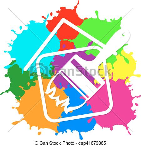 450x466 Painting House Silhouette For Business Vector Clip Art Vector