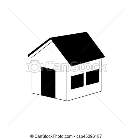 450x470 Silhouette Side View Silhouette House Icon Vector Vector