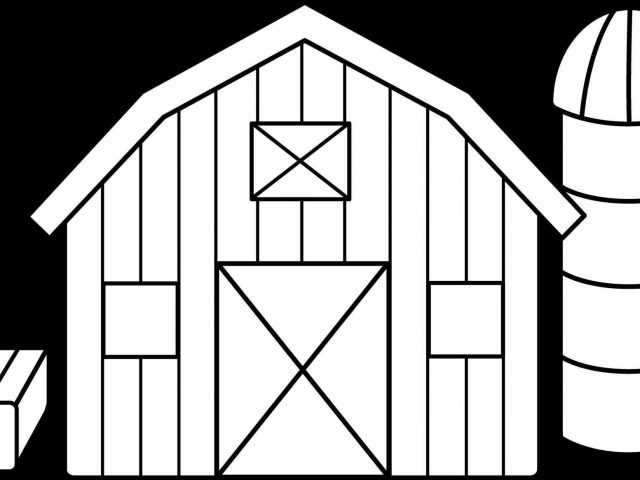 640x480 The Images Collection Of House Barn Clip Art Library Silhouette