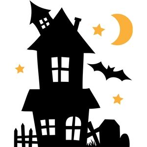 300x300 Haunted House Haunted Houses, Silhouette Design And Silhouettes