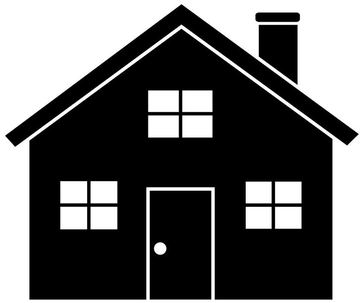 736x612 House Silhouette Clipart
