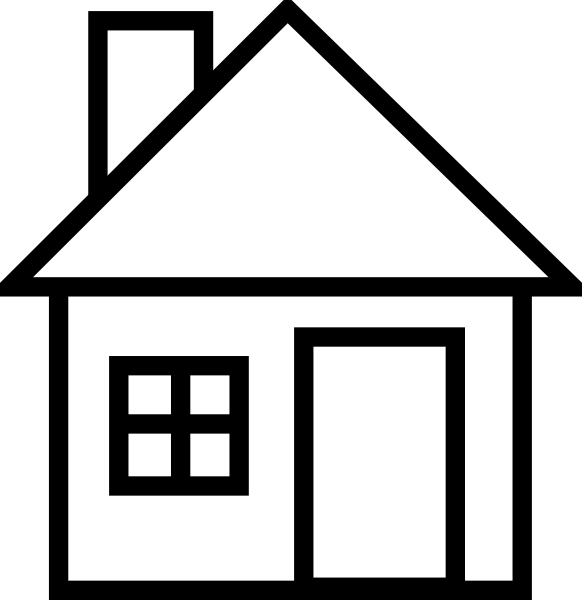 582x600 House Silhouette Graphic Clipart