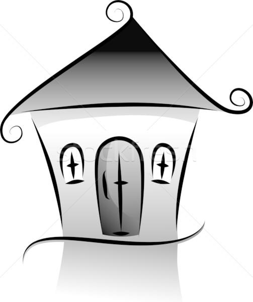 503x600 House Silhouette Vector Illustration Lenm ( 1235542) Stockfresh