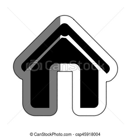 450x470 House Silhouette Isolated Icon Vector Illustration Design Vector