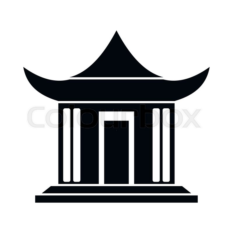800x800 Pagoda Clipart Chinese House