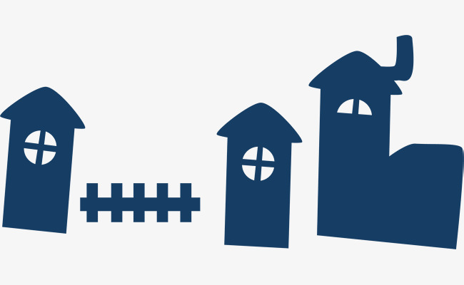 650x400 House Png Vector Element, House Vector, Fence, Silhouette Png