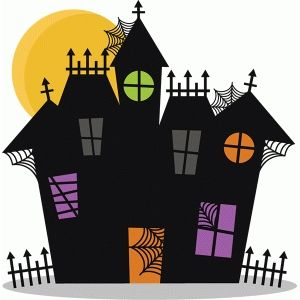 300x300 Haunted House Silhouette Design, Haunted Houses And Silhouettes
