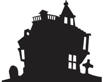 340x270 Haunted House Silhouette Decal Vinyl Sticker For Walls Car Window