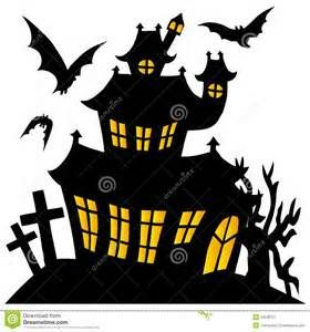 280x300 Haunted House Silhouette Templates
