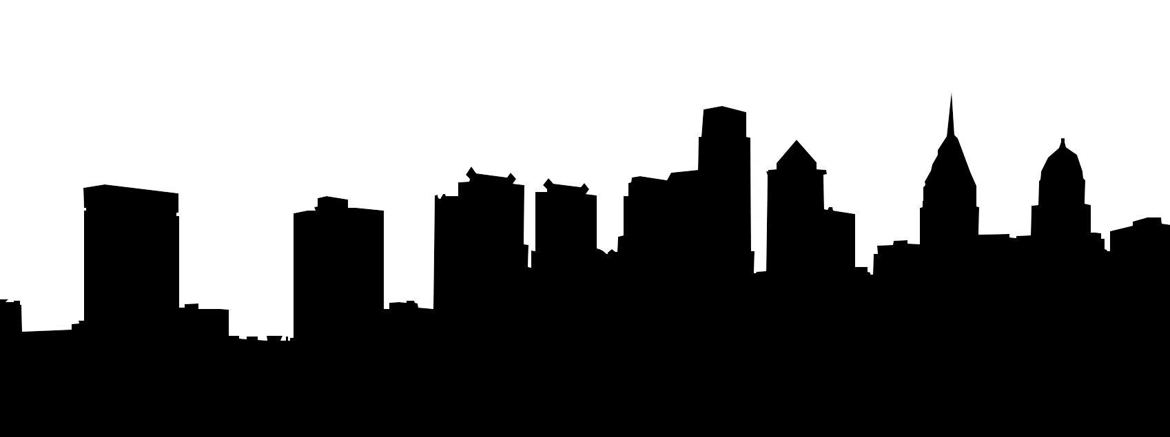 1698x635 Houston Skyline Outline
