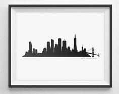 236x186 Houston Skyline Silhouette
