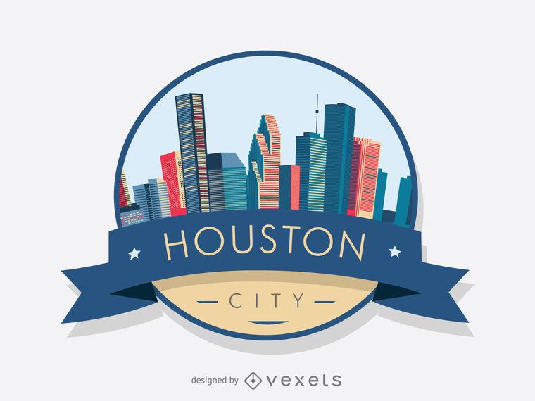 760x570 Houston Skyline Badge