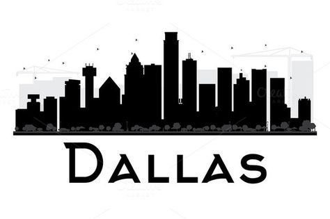 Houston Skyline Silhouette Vector