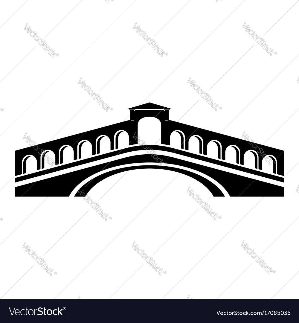 1000x1080 Rialto Bridge Icon. Simple Illustration Of Rialto Bridge Vector