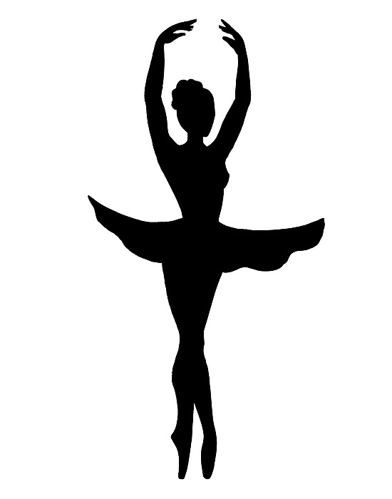 550x700 Graceful Ballerina Silhouette' Home Decoration