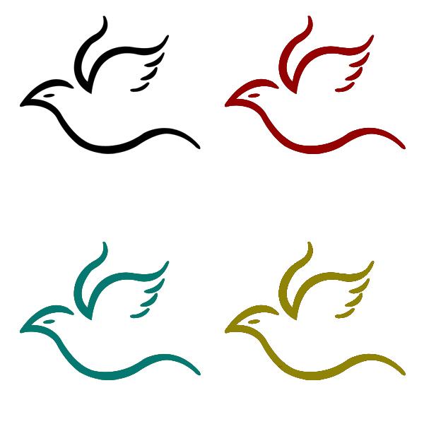 600x600 Flying Bird Simple Logo By ~vespertilo On Tattoos