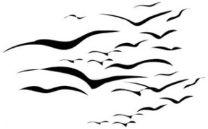 300x186 How To Draw Bird Silhouette