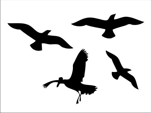 499x375 Vector Bird Silhouettes