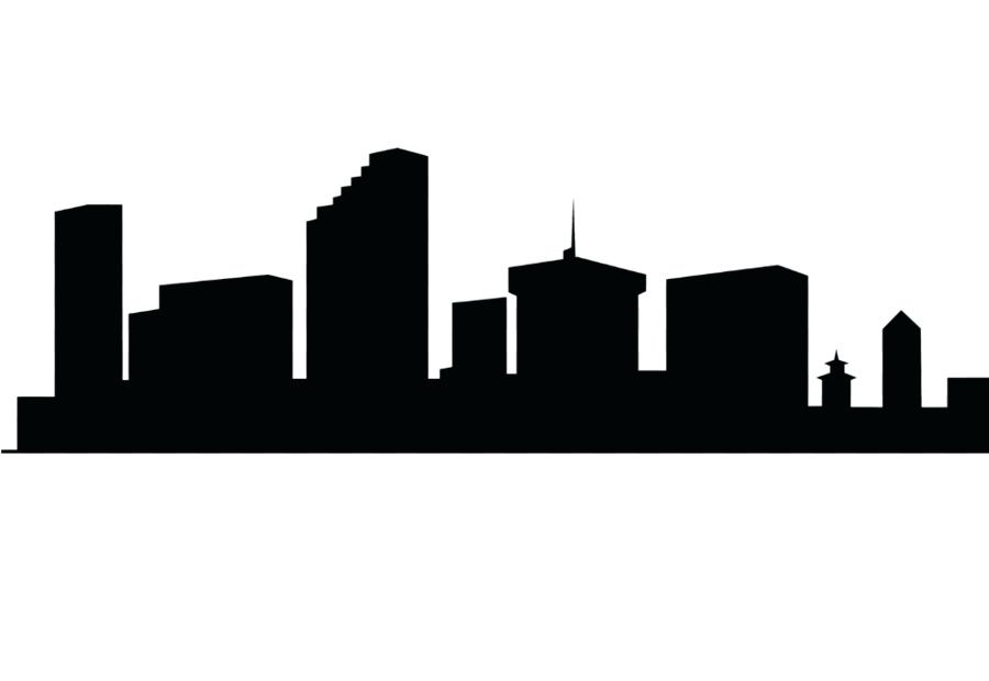 900x620 New York Skyline Silhouette And Outline Picture Of New Skyline