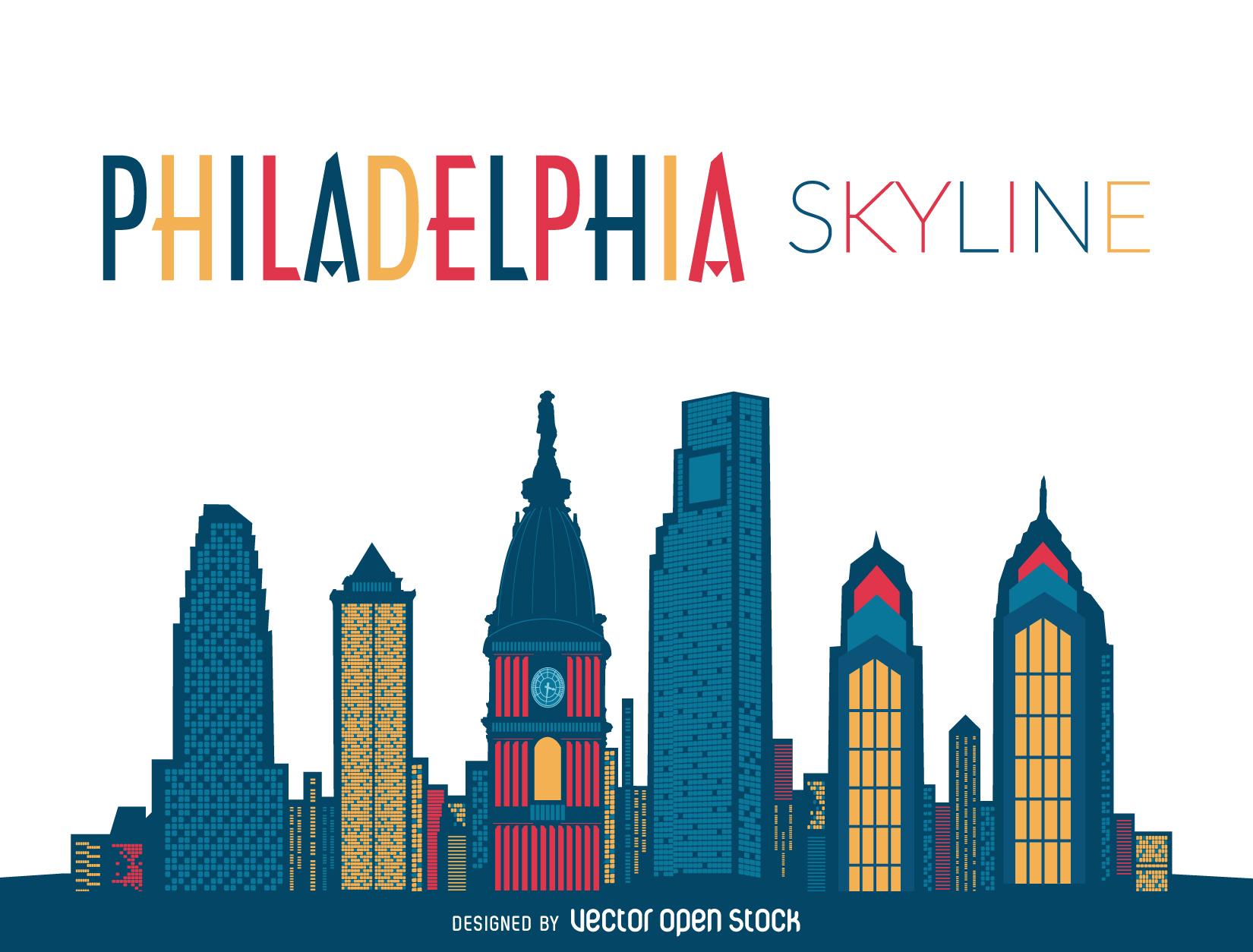 1650x1254 Philadelphia Skyline Silhouette