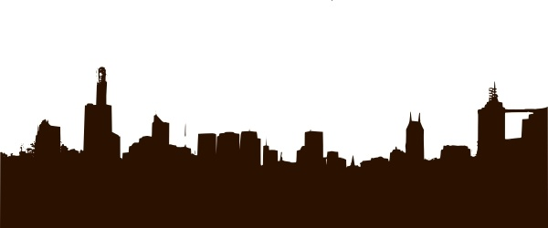 600x250 Rgesthuizen City Skyline Clip Art Free Vector In Open Office
