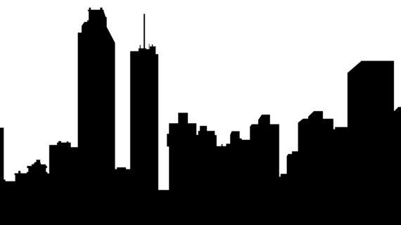 570x320 San Antonio Skyline Drawing San Antonio Texas Silhouette City