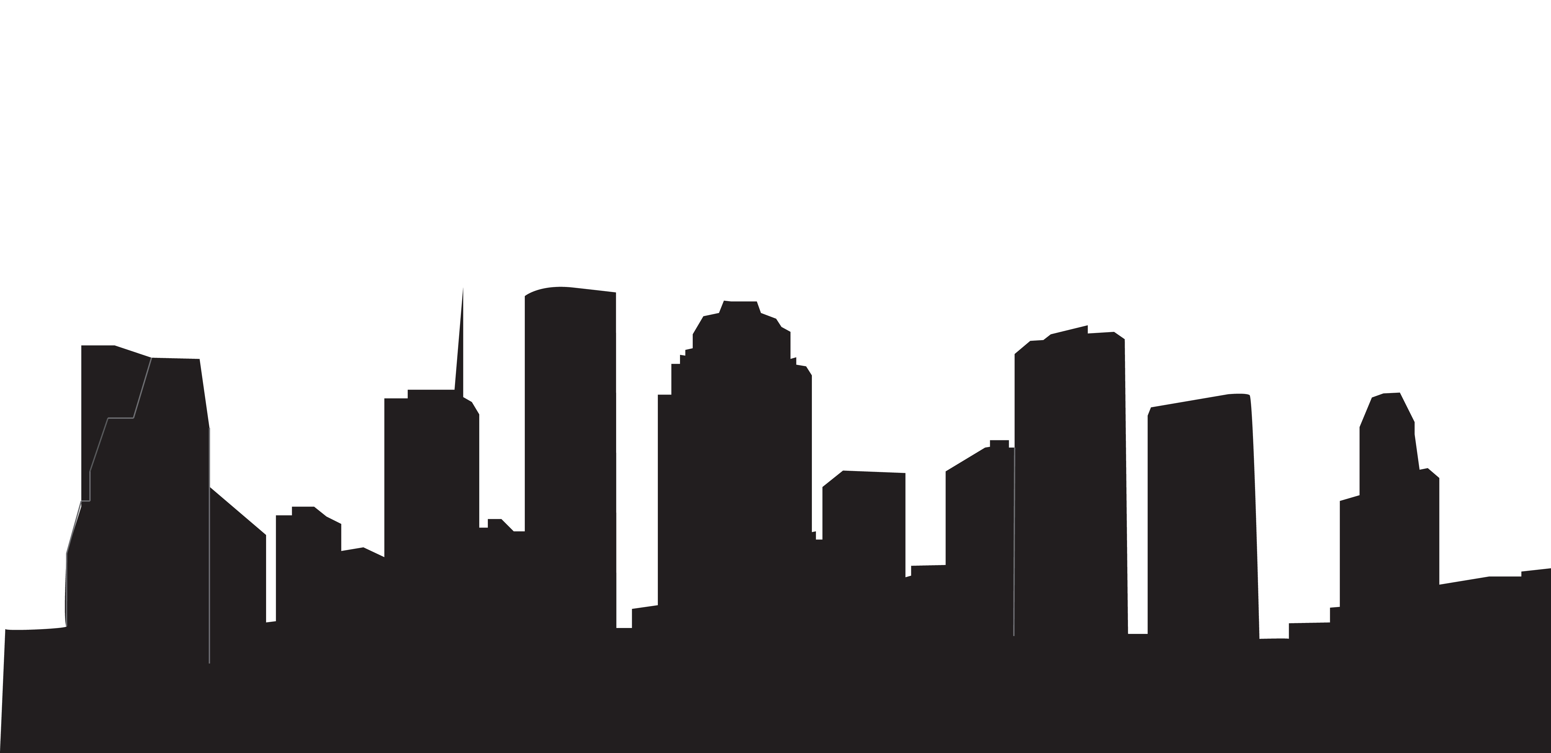 How To Draw A City Skyline Silhouette At Getdrawings