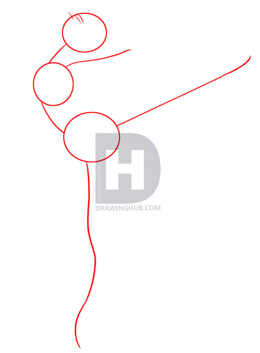 530x720 How To Draw A Ballerina, Step By Step, Drawing Guide, By