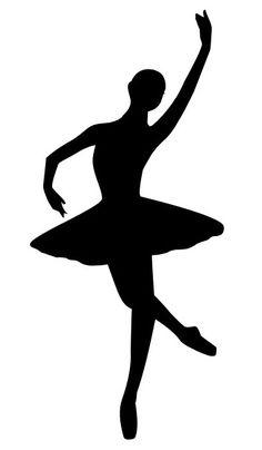 236x404 Ballerina Silhouette Ballerina Silhouette Decal Ballerina