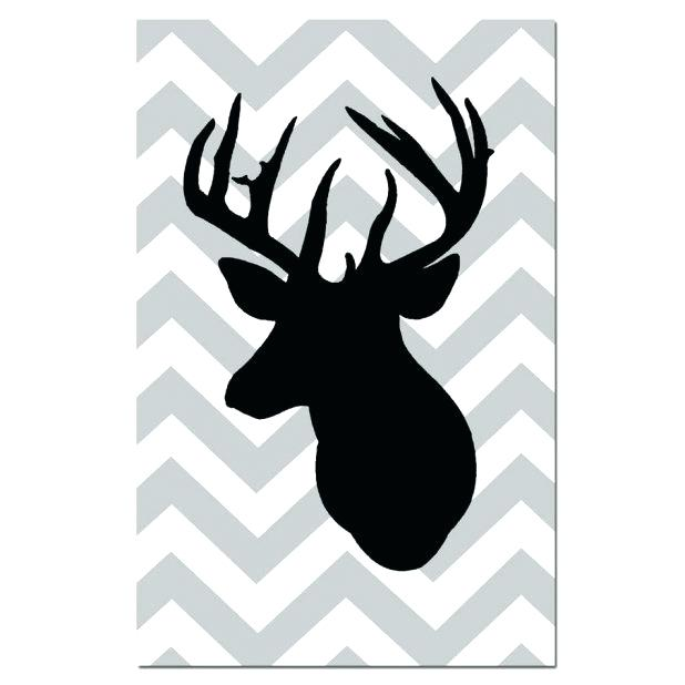 618x618 Head Outline Deer Head Outline Cartoon Moose Head Outline