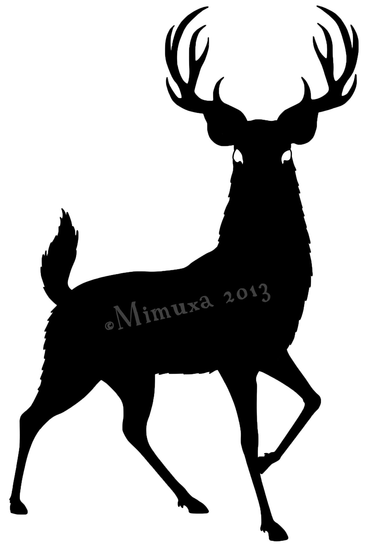 1280x1881 How To Draw A Deer Head Silhouette