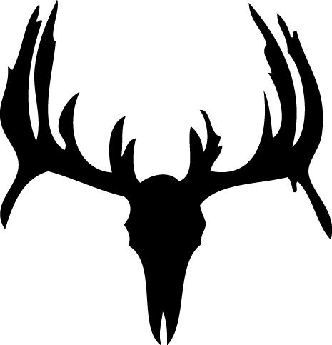 465x483 Deer Skull Drawings Deer Skull Wall Decal 3