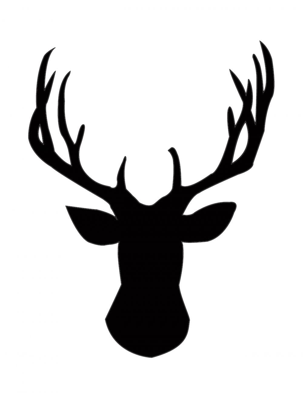 1000x1294 Diy Gold Foil Deer Head Silhouette Navidad